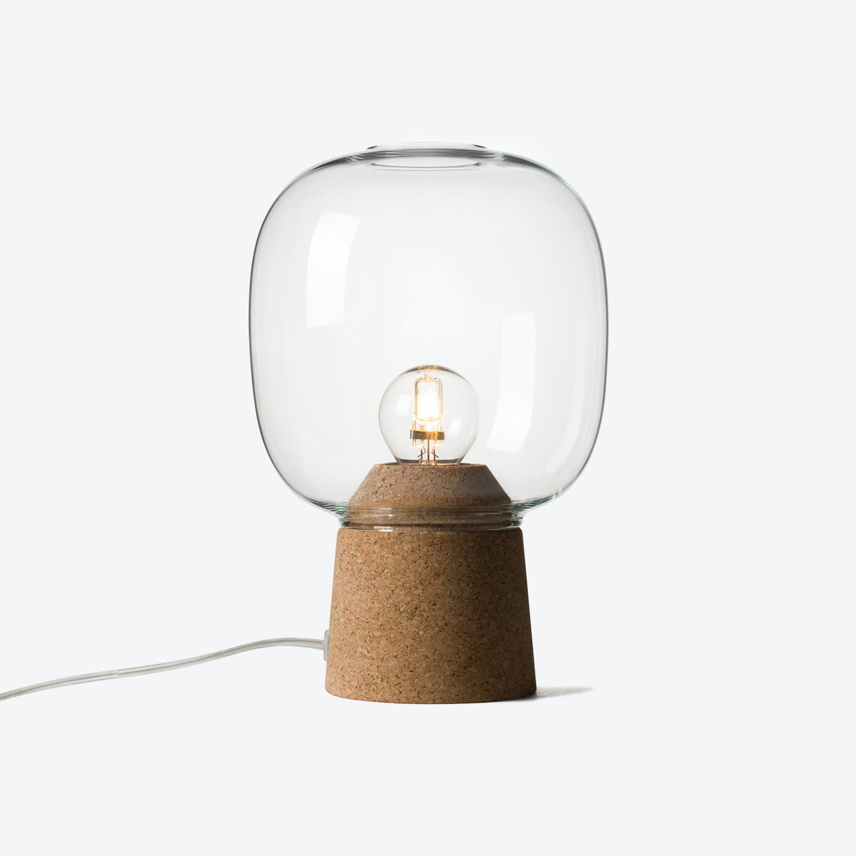 Picia Table Lamp in Clear Glass