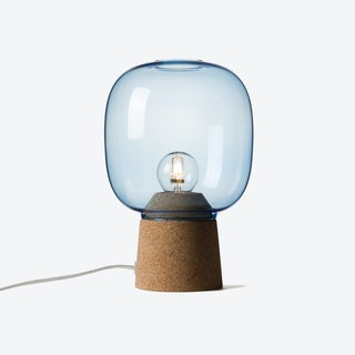 Picia Table Lamp in Blue Glass