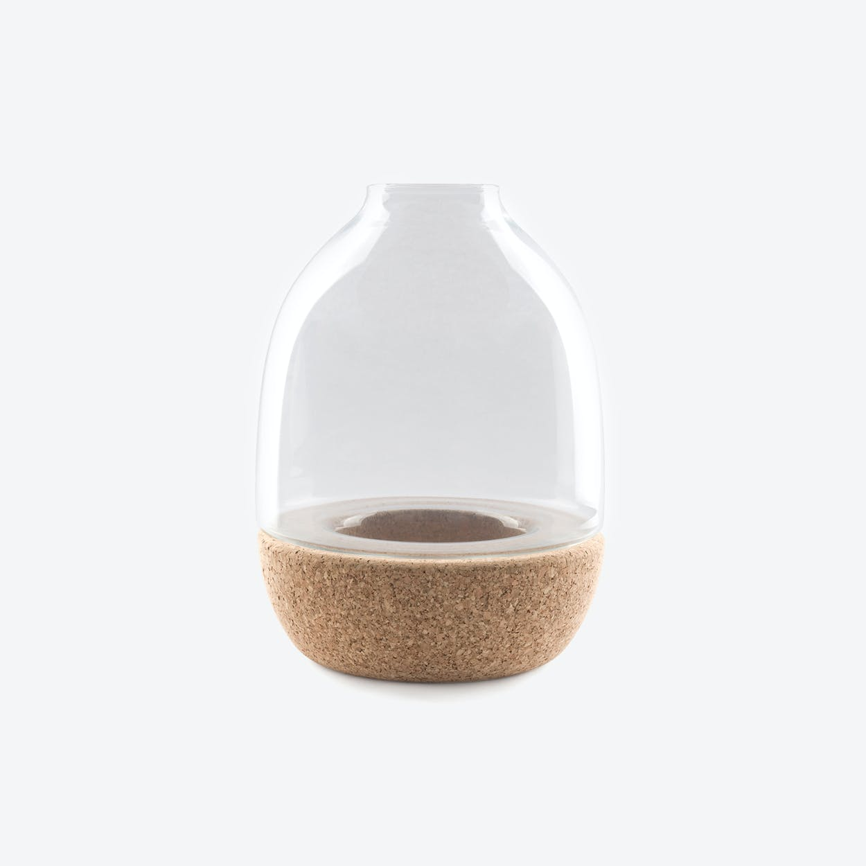 Pitaro Vase in Clear Glass