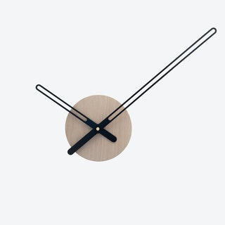 Sweep Wall Clock - Oak & Black