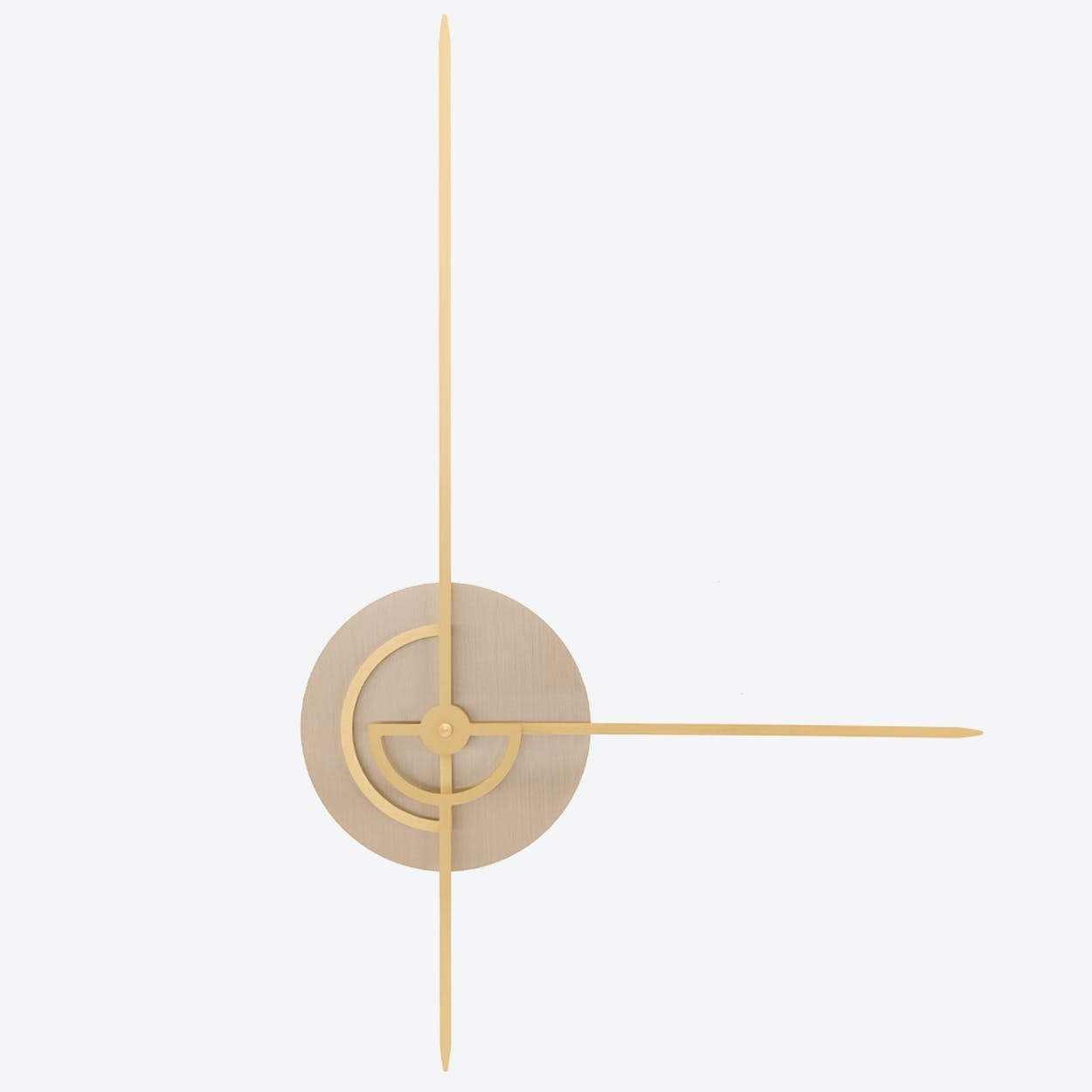 Phei Wall Clock - Stainless Steel & Brass