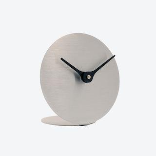 Lilje Table Clock - Stainless Steel & Black Aluminium
