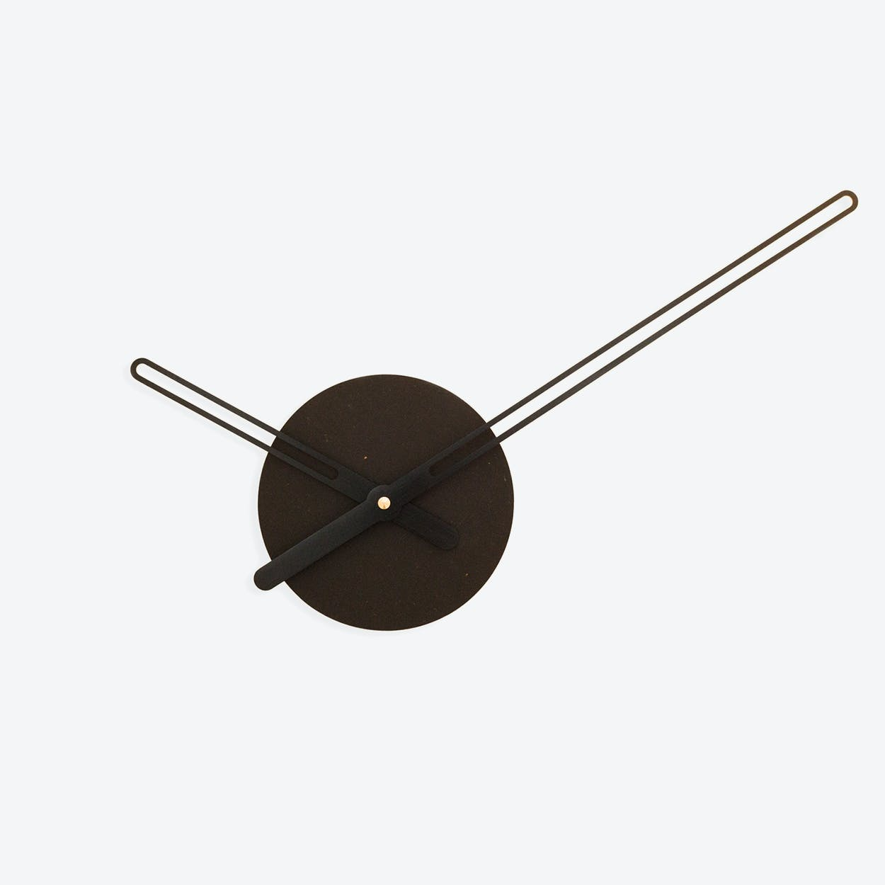 Sweep Wall Clock - Ocher Black
