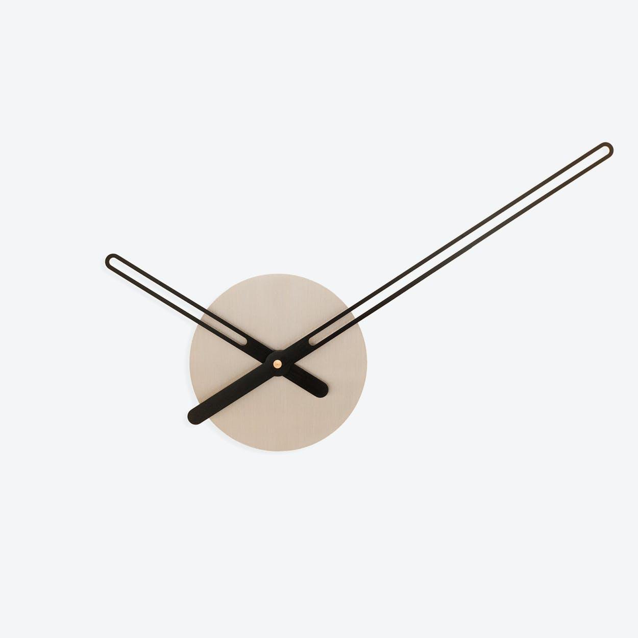 Sweep Wall Clock - Stainless Steel & Black