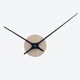 Lilje Wall Clock - Oak Wood & Black