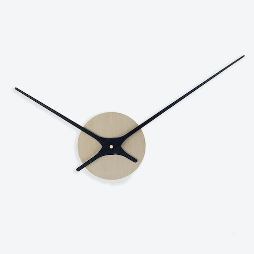 Lilje Wall Clock - Brass & Black