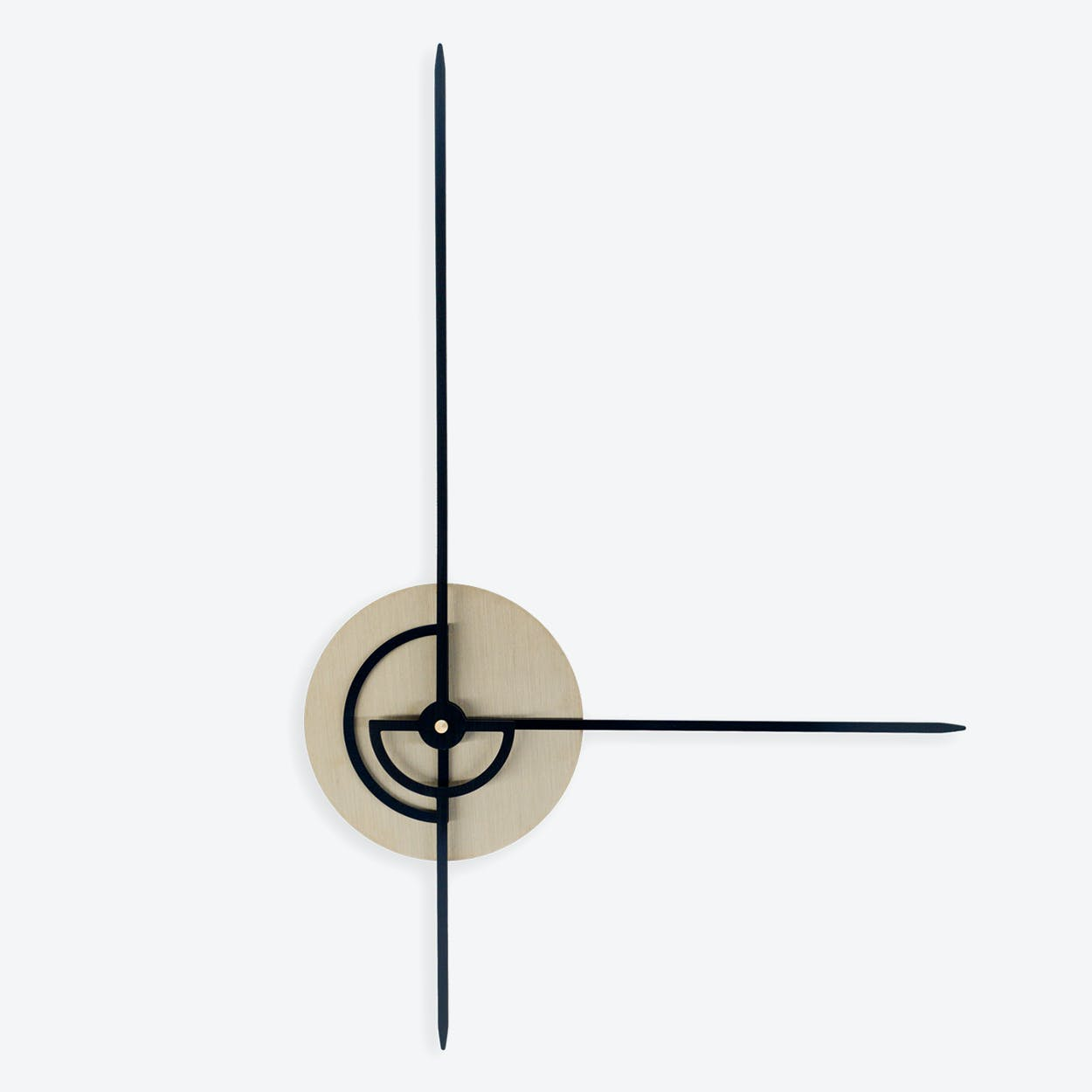 Phei Wall Clock - Brass & Black