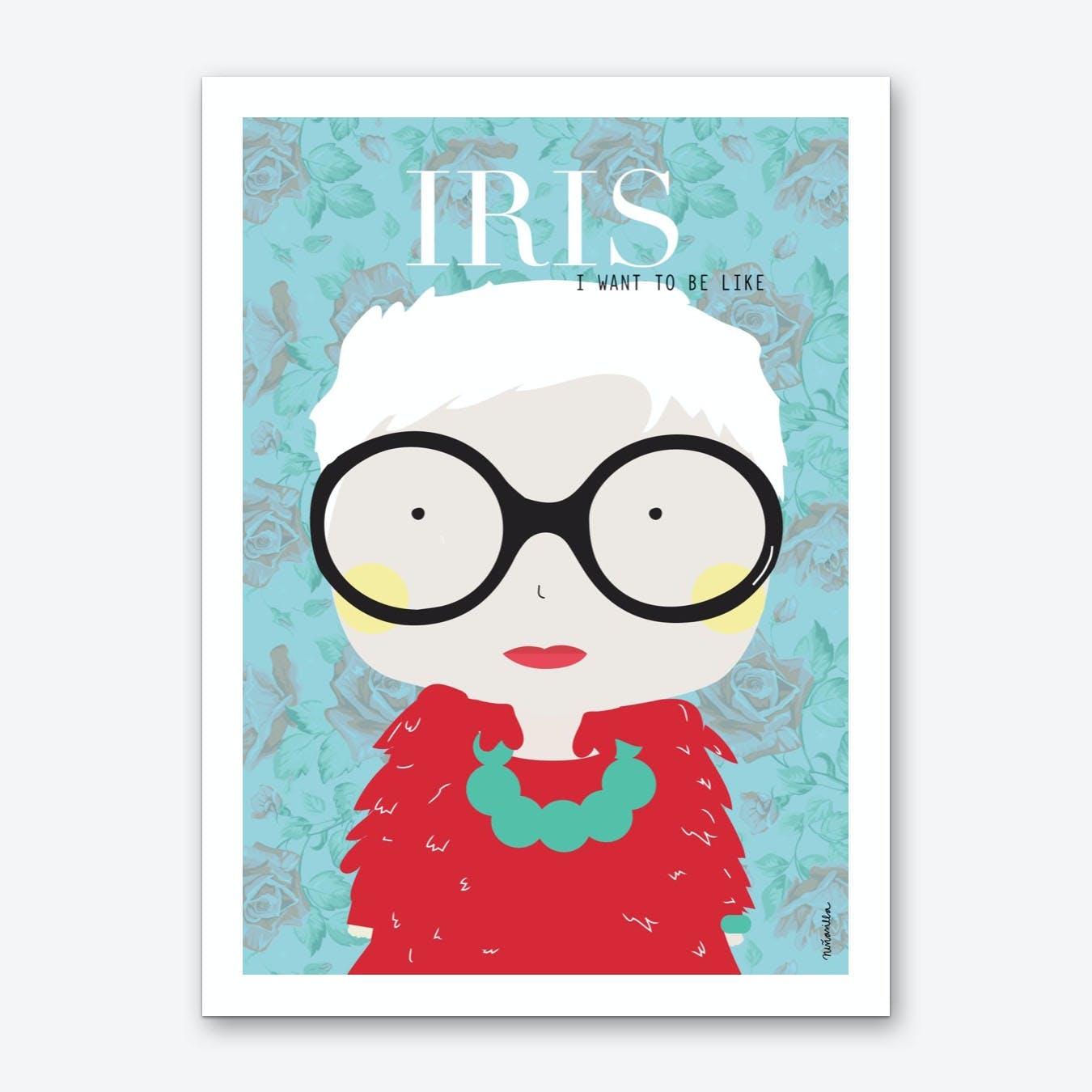 Little Iris Art Print