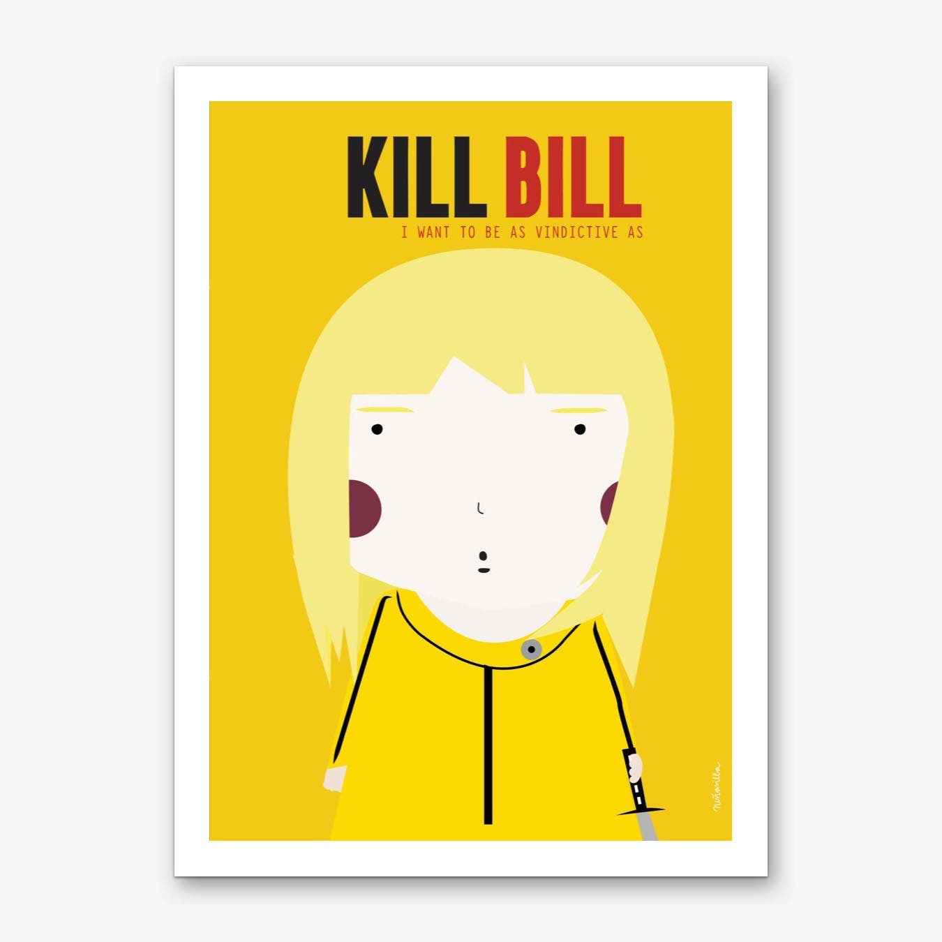 Little Kill bill Art Print