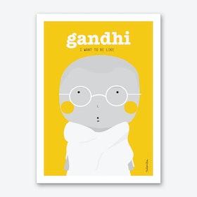 Little gandhi Art Print