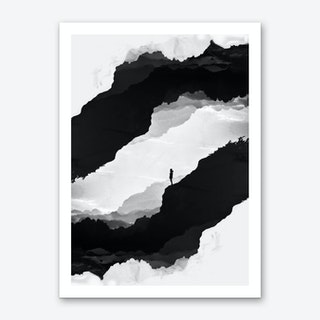 White Isolation Art Print