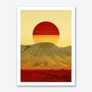 Warm Abstraction Art Print