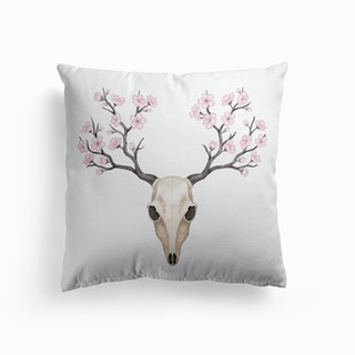Blooming Deer Skull Cushion