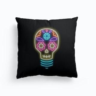 Sugar Skull Lightbulb Cushion