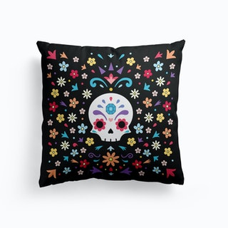 Cute Day Of The Dead Cushion