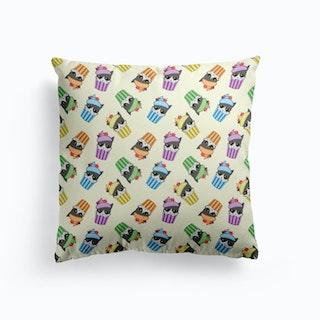 Cupcake Kitty Pattern Cushion