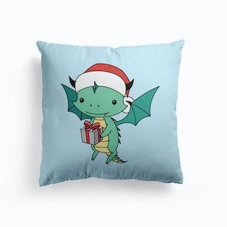 Christmas Dragon Cushion