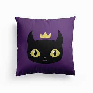 Black Cat King Cushion
