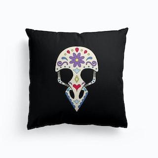 Bird Sugar Skull Cushion