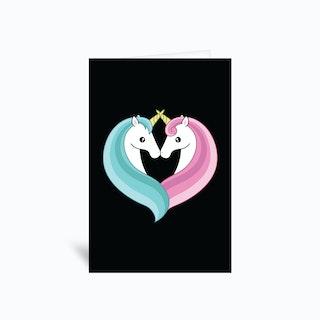 Unicorn Heart Greetings Card