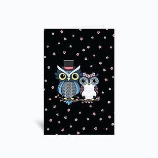 Owl Love  Greetings Card