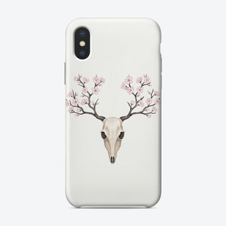 Blooming Deer Skull Phone Case