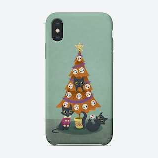 Meowy Christmas Phone Case