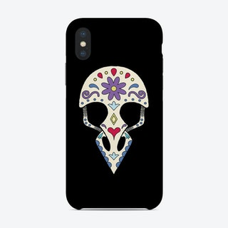 Bird Sugar Skull Phone Case