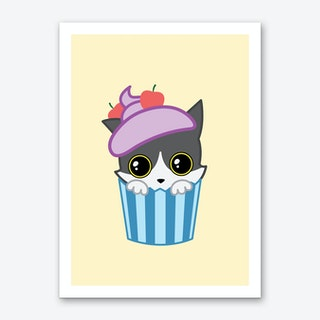 Cupcake Kitty Art Print
