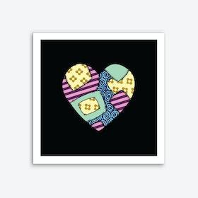 Patchwork Heart Art Print