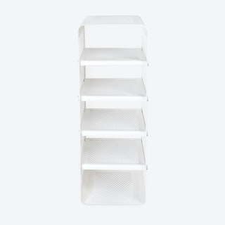 Big Wall Shoe Rack in Matte White