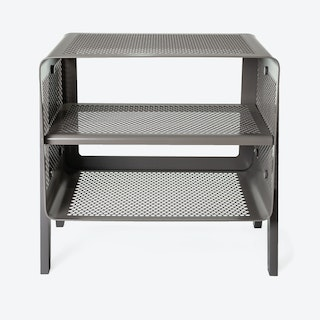 Small Floor Shoe Rack in Matte Grey/Taupe