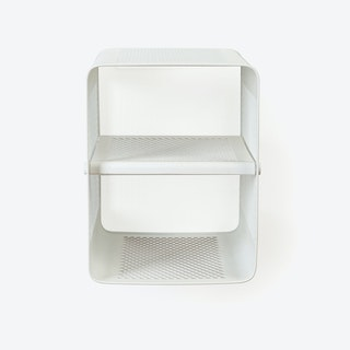 Small Wall Shoe Rack in Matte White
