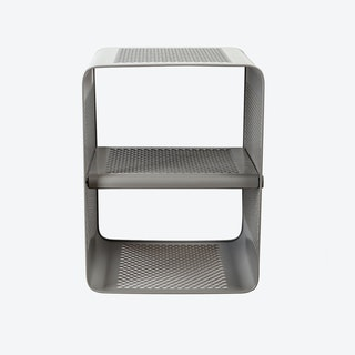 Small Wall Shoe Rack in Matte Grey/Taupe