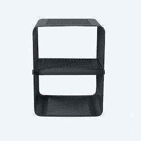 Small Wall Shoe Rack in Matte Black