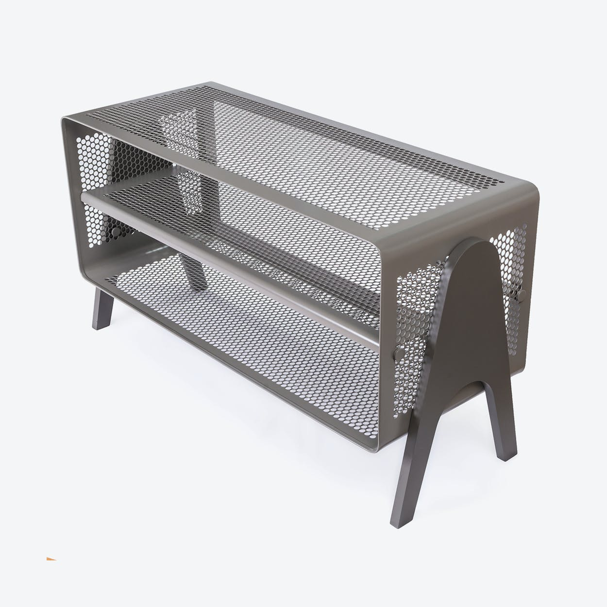 Big Floor Shoe Rack in Matte Grey/Taupe