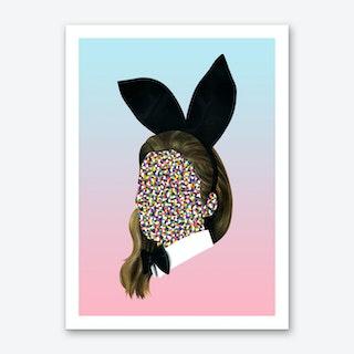 Playboy Bunny Girl Art Print