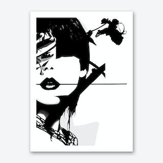Punk Face Girl Art Print