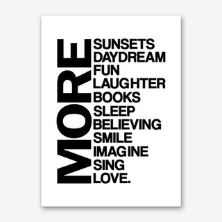 More is Less Art Print