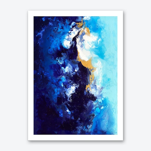 Riverbed Art Print