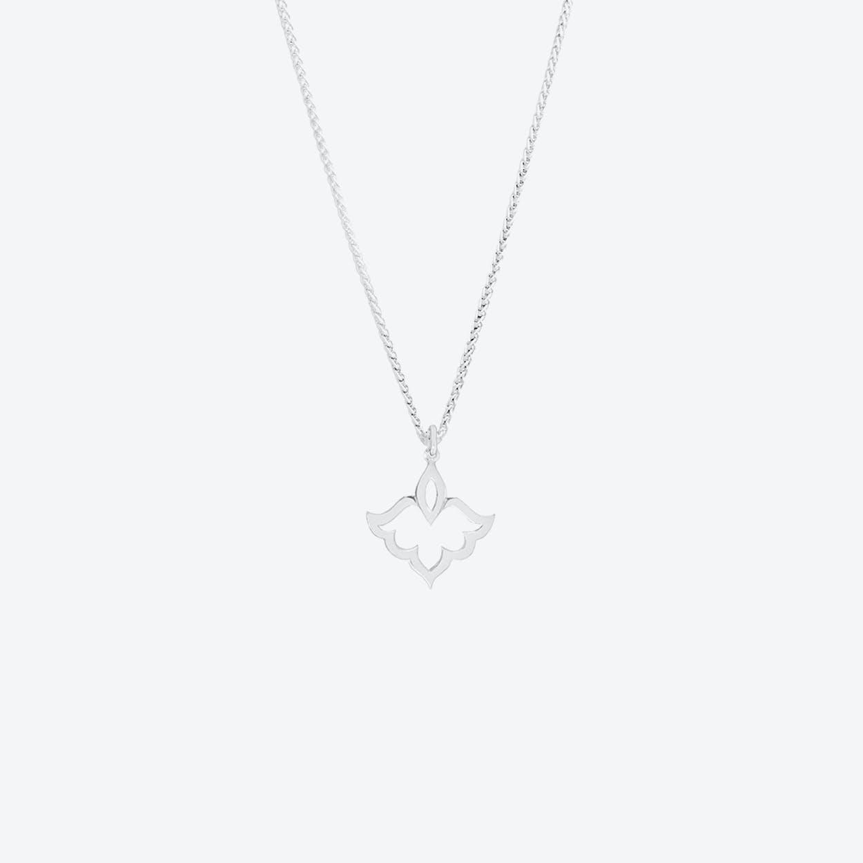 Tiny Lotus Pendant Necklace