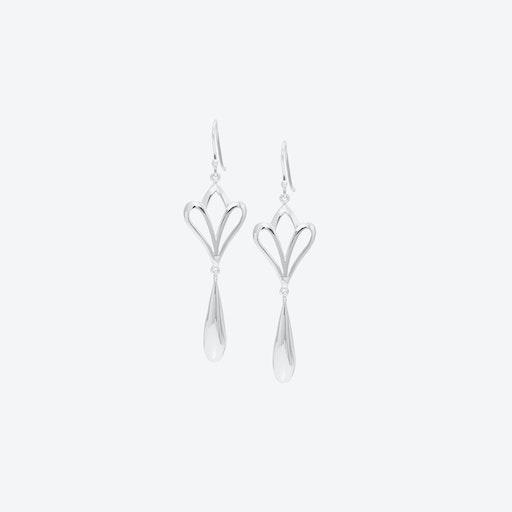 Large Fleur Drop Earrings