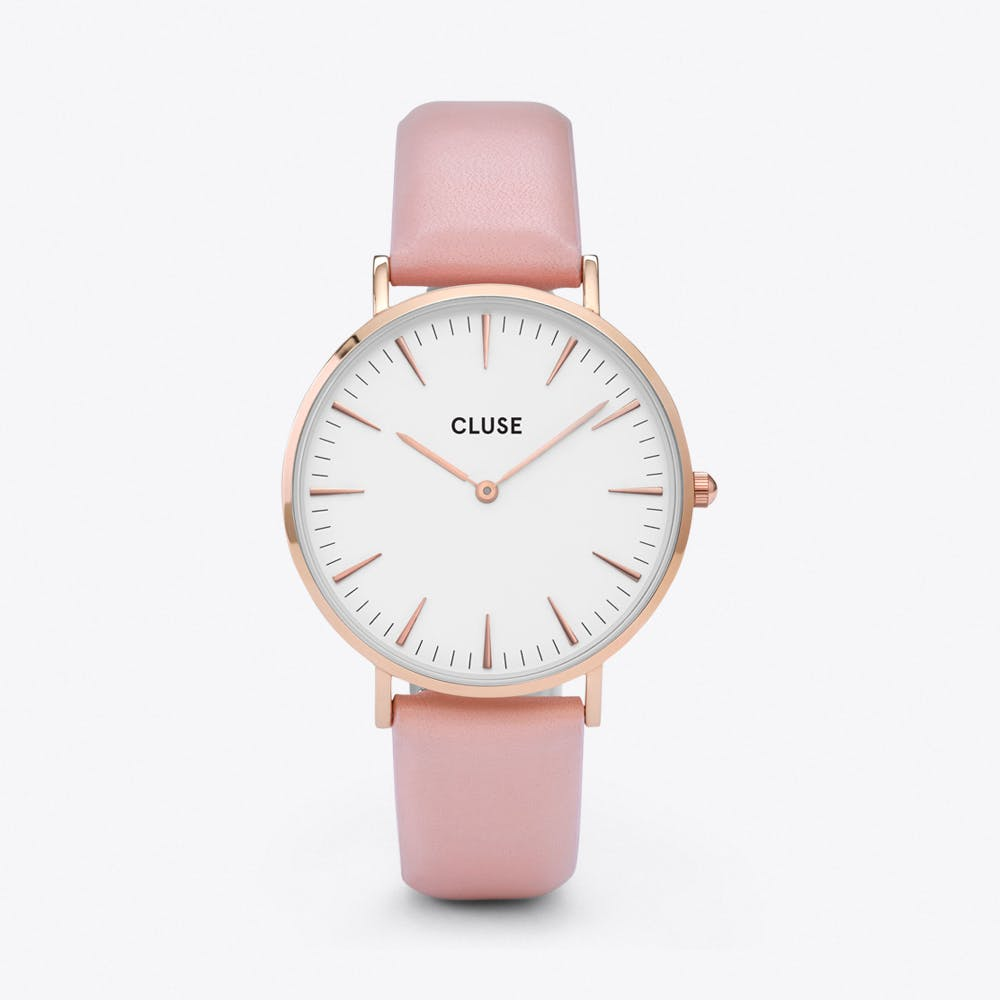 La Bohème Watch in Gold, White & Pink