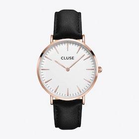 La Bohème Watch in Rose Gold & Black I