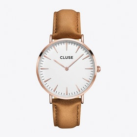 La Bohème Watch in Rose Gold & Caramel