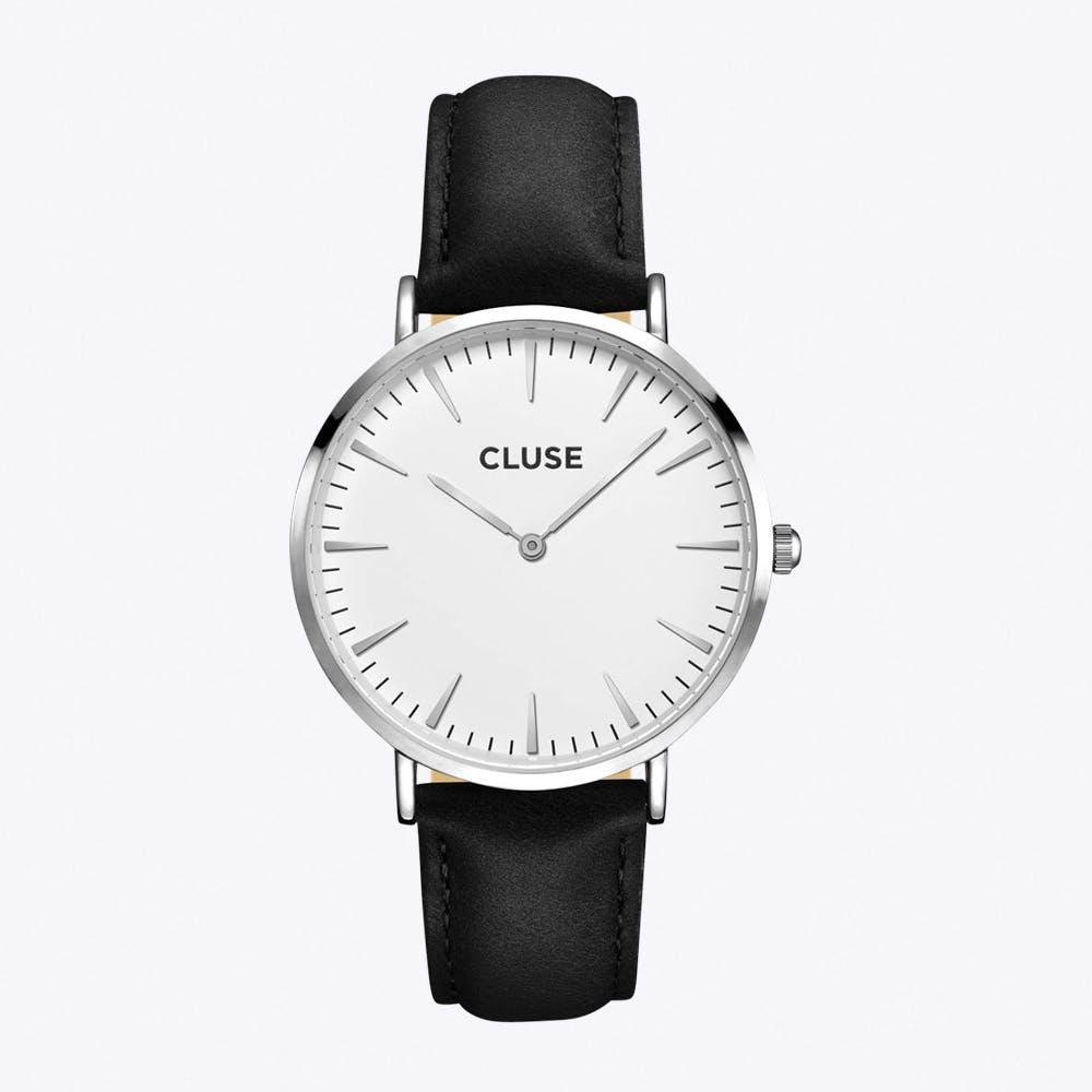 La Bohème Watch in Silver & Black I