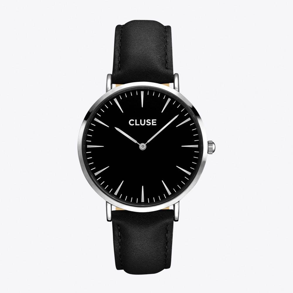 La Bohème Watch in Silver & Black II