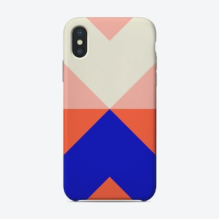 Split X Pink And Blue Phone Case