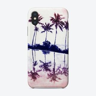 Palm Tree Reflections Sunset Phone Case