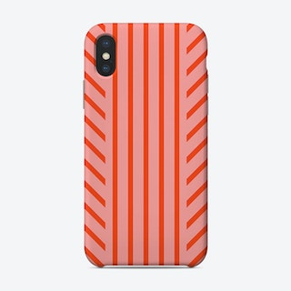 Lined Pink Phone Case